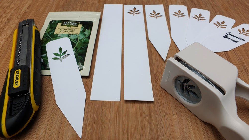 herbs from seeds, herb markers,