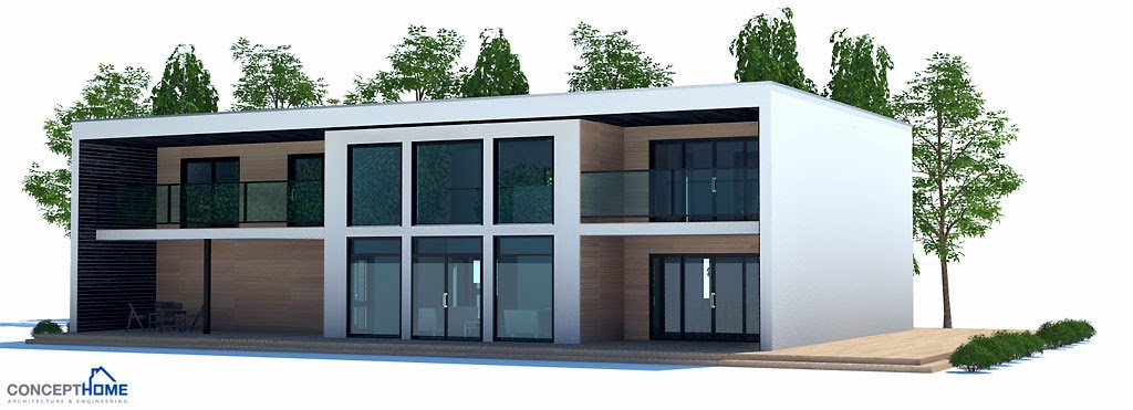 Projetos de casas projeto de casa moderna ch203 for Casa moderna 8