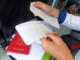 borang maklumat keluar masuk thailand