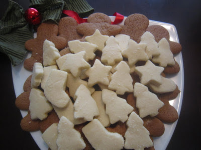 gingerbread cookies, shortbread cookies, Christmas baking