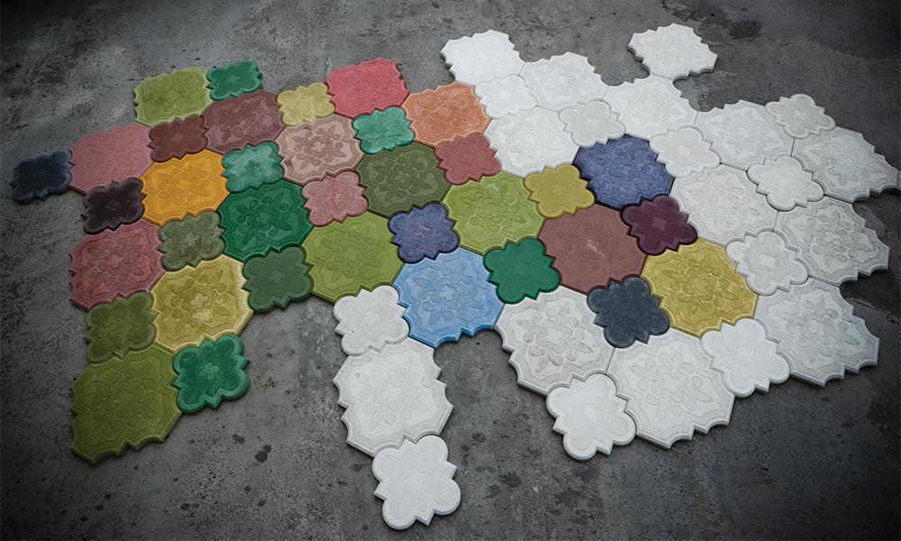Как сделать краситель для тротуарной плитки