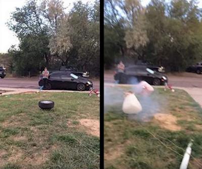 Δείτε γιατί η εκτόξευση μιας ρόδας χρησιμοποιώντας αερόσακους είναι μια εξαιρετικά κακή ιδέα