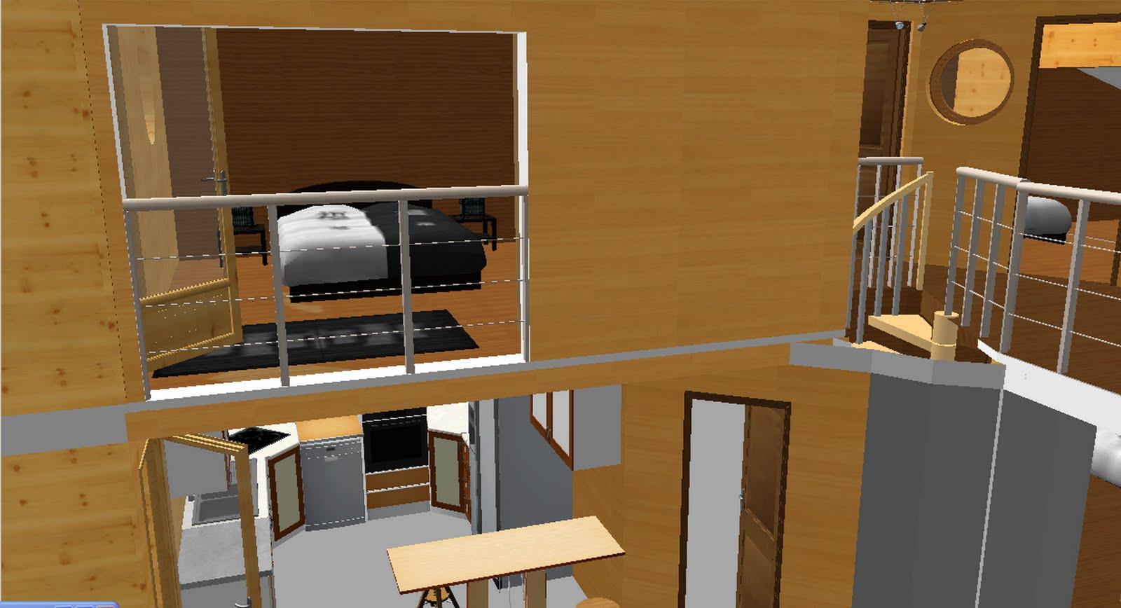 la maison bois du golf visite virtuelle de la maison. Black Bedroom Furniture Sets. Home Design Ideas
