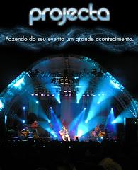 Projecta (palco, som, luz, estruturas)