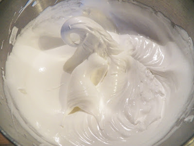 whipped egg whites with peak