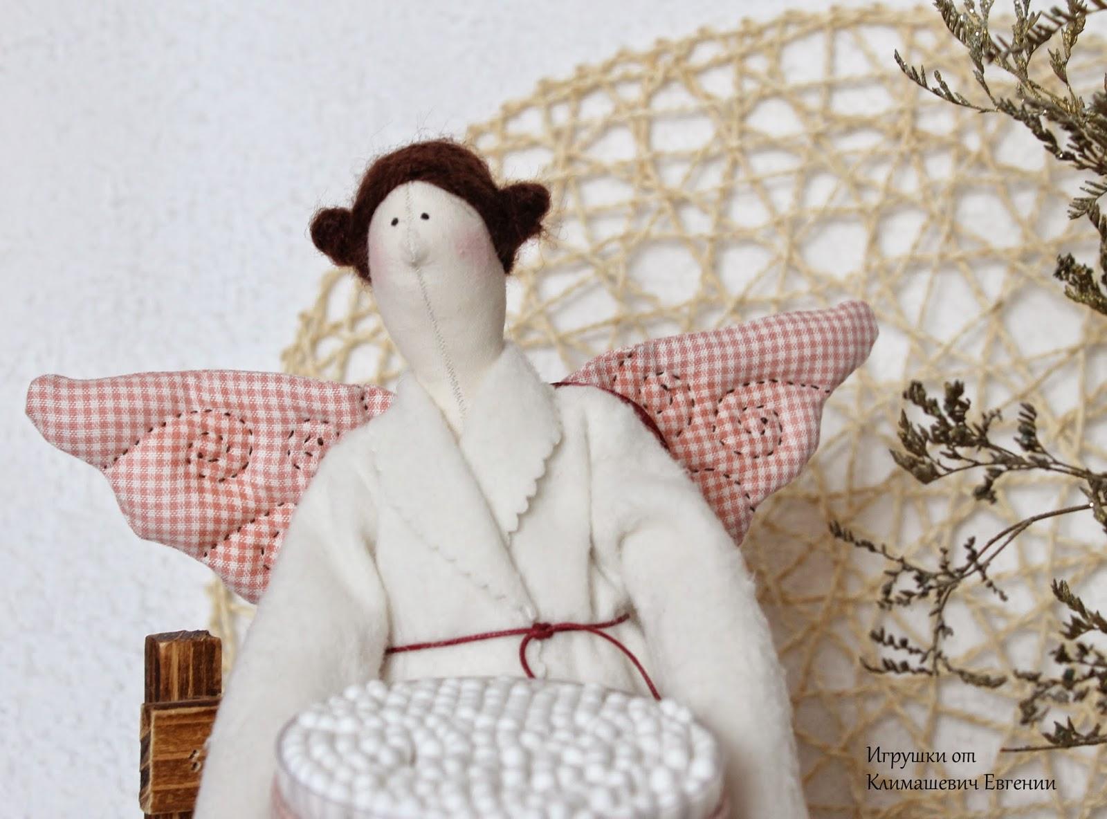 Хранительница ватных палочек, тильда фея, тильда ангел, кукла ангел, банный ангел, тильда