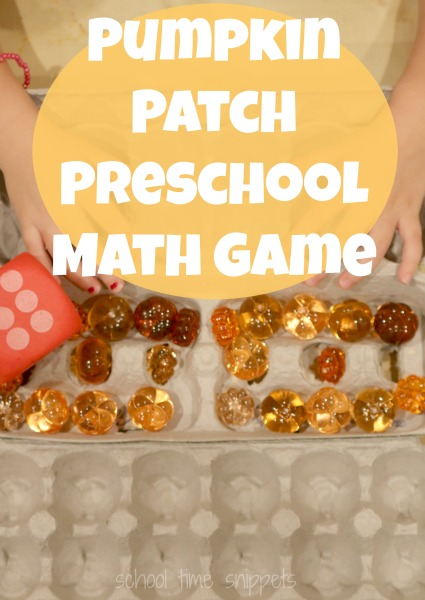 Seasonal math game your preschooler will love! Great way to work on math  and fine motor skills!