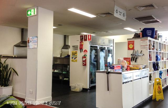 Australia trip - Sydney - Sydney Harbor YHA - The kitchen area
