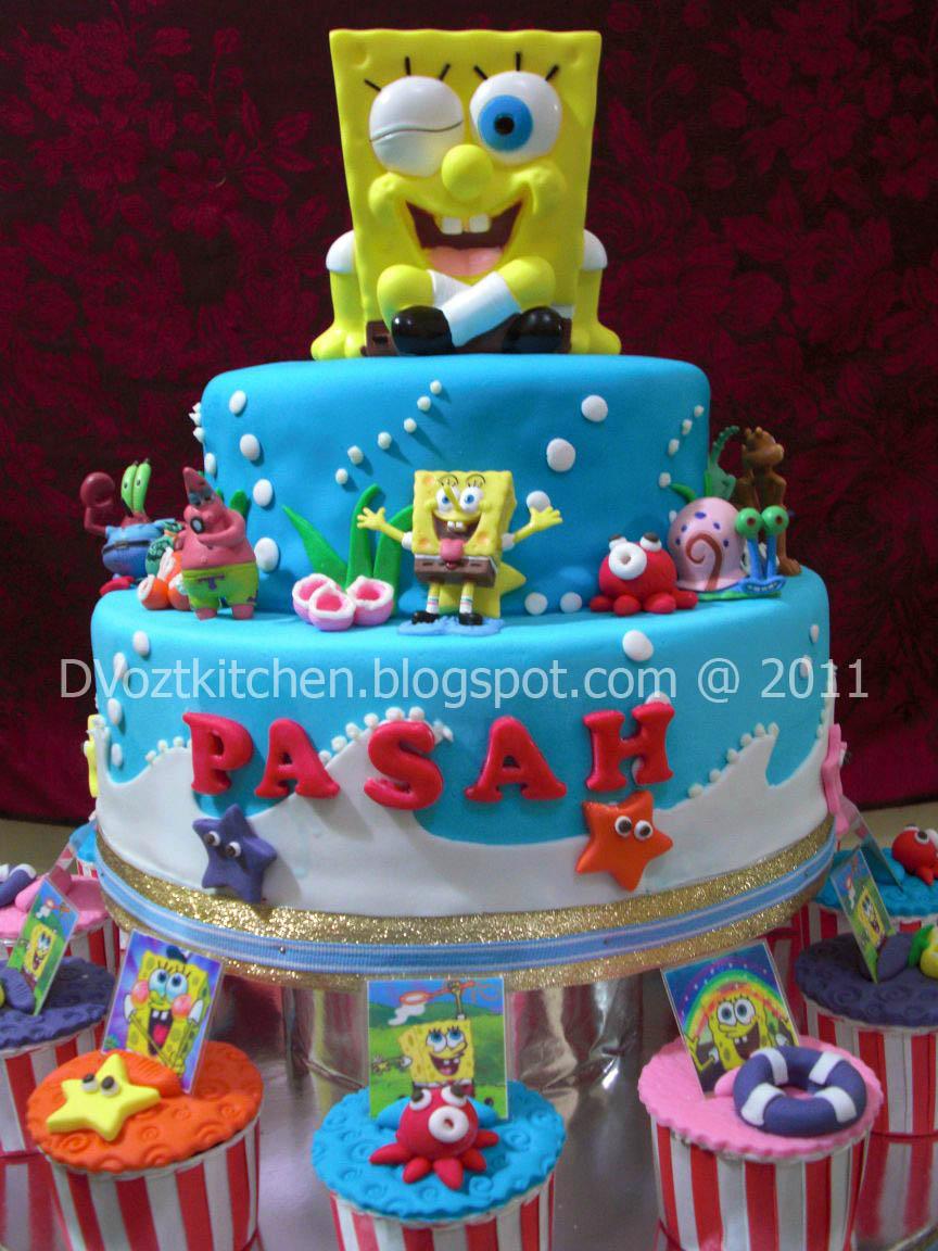 Orange Cake Spongebob For Jeremy Pasah Abraham