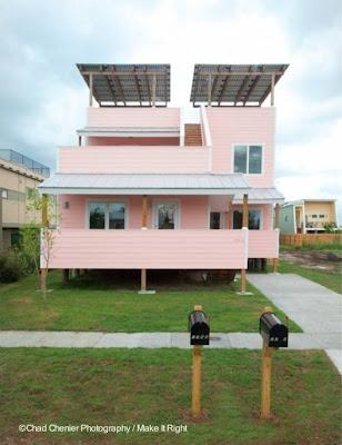 Casa económica por Katrina diseñada por Frank Ghery