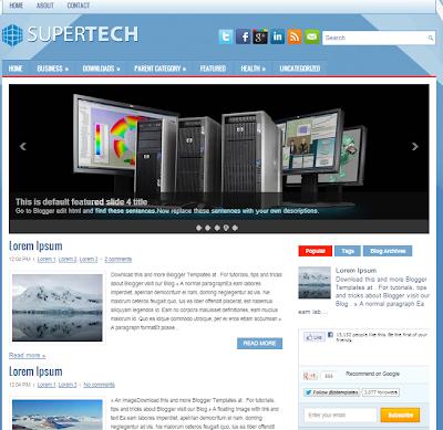 قالب SuperTech معرب من اجلكم