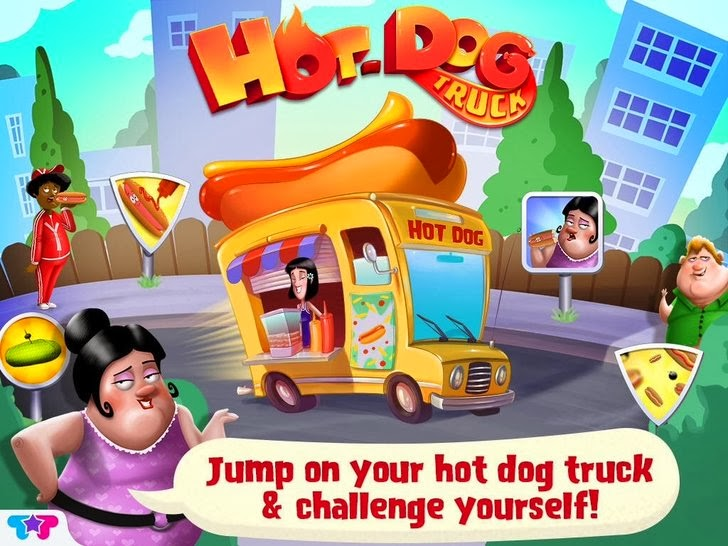 Hot Dog Truck : Lunch Time Rush! Cook, Serve, Eat & Play App iTunes App By Kids Fun Club by TabTale - FreeApps.ws
