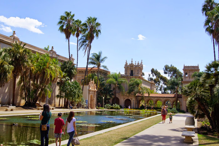 The fishpond in Balboa Park
