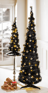 Black Pop-Up Christmas Tree