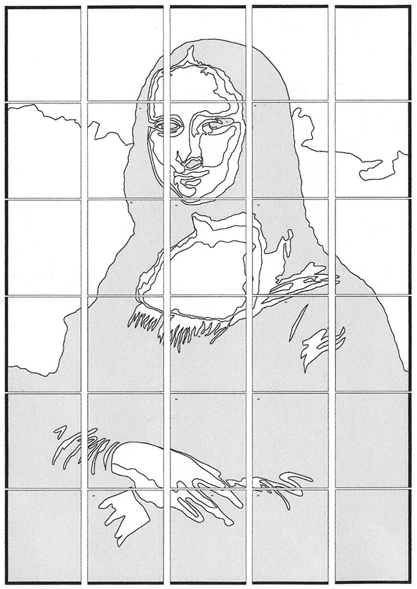 mona lisa coloring pages - photo#27