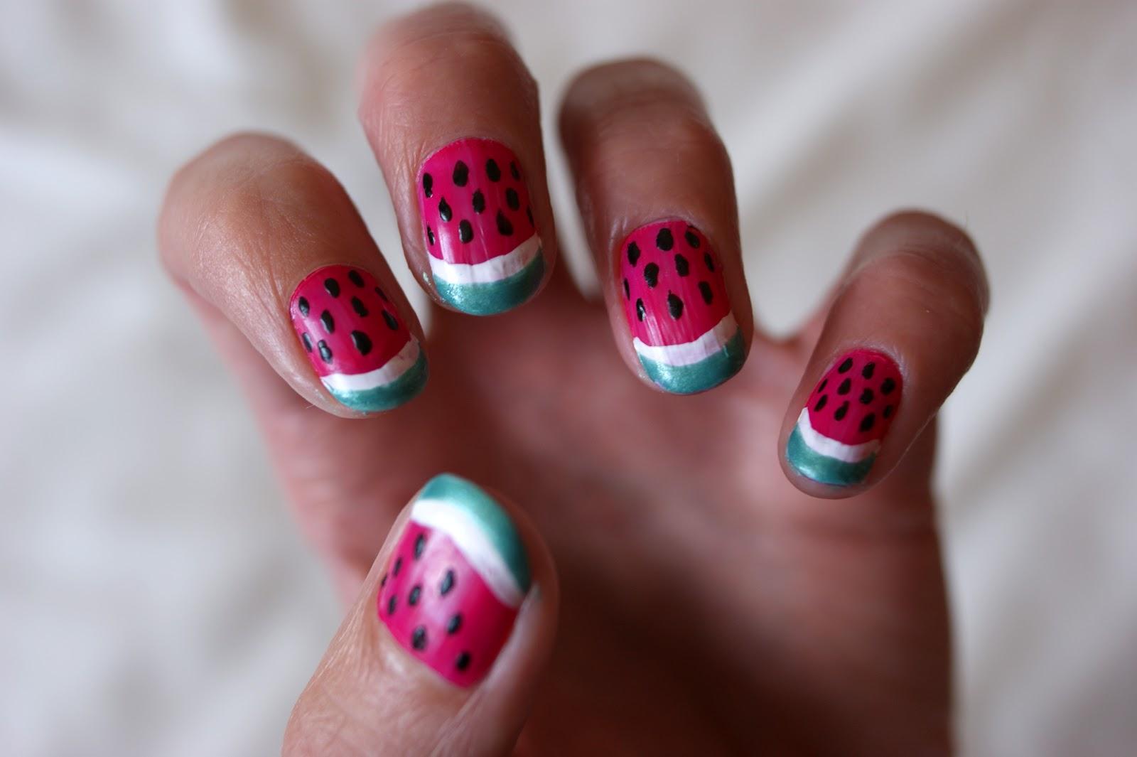 Unlimited by JK: Watermelon nail art