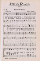 Homeward Bound Antique Hymn Book Page via Knick of Time
