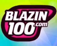 Blazin 100 Philippines Online Radio logo