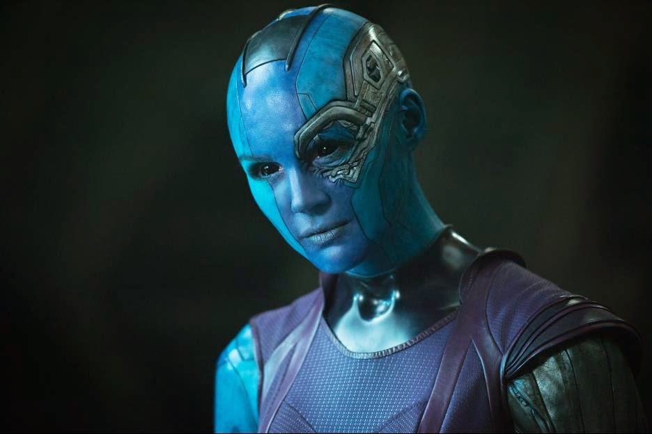 Karen Gillian as Nebula in Guardians of the Galaxy