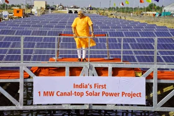 Canal-top Power project