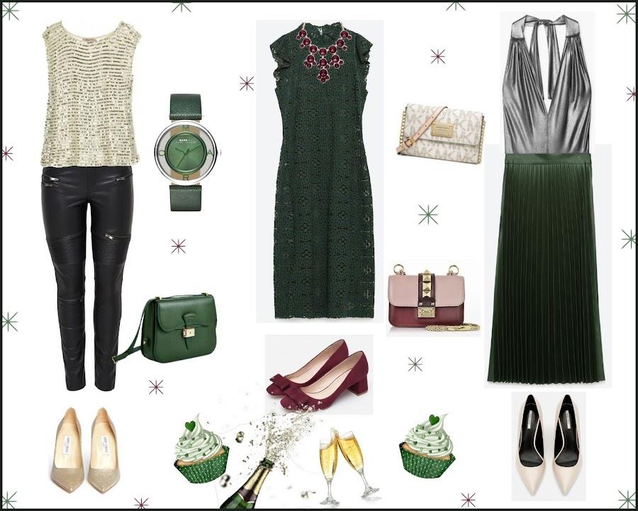 complementos para un vestido verde