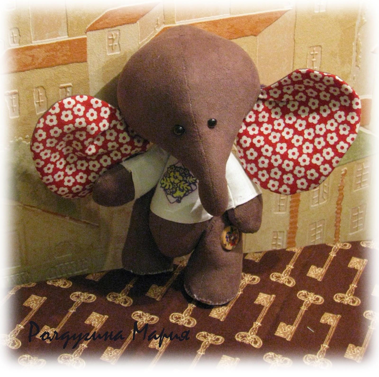 слон в технике тедди
