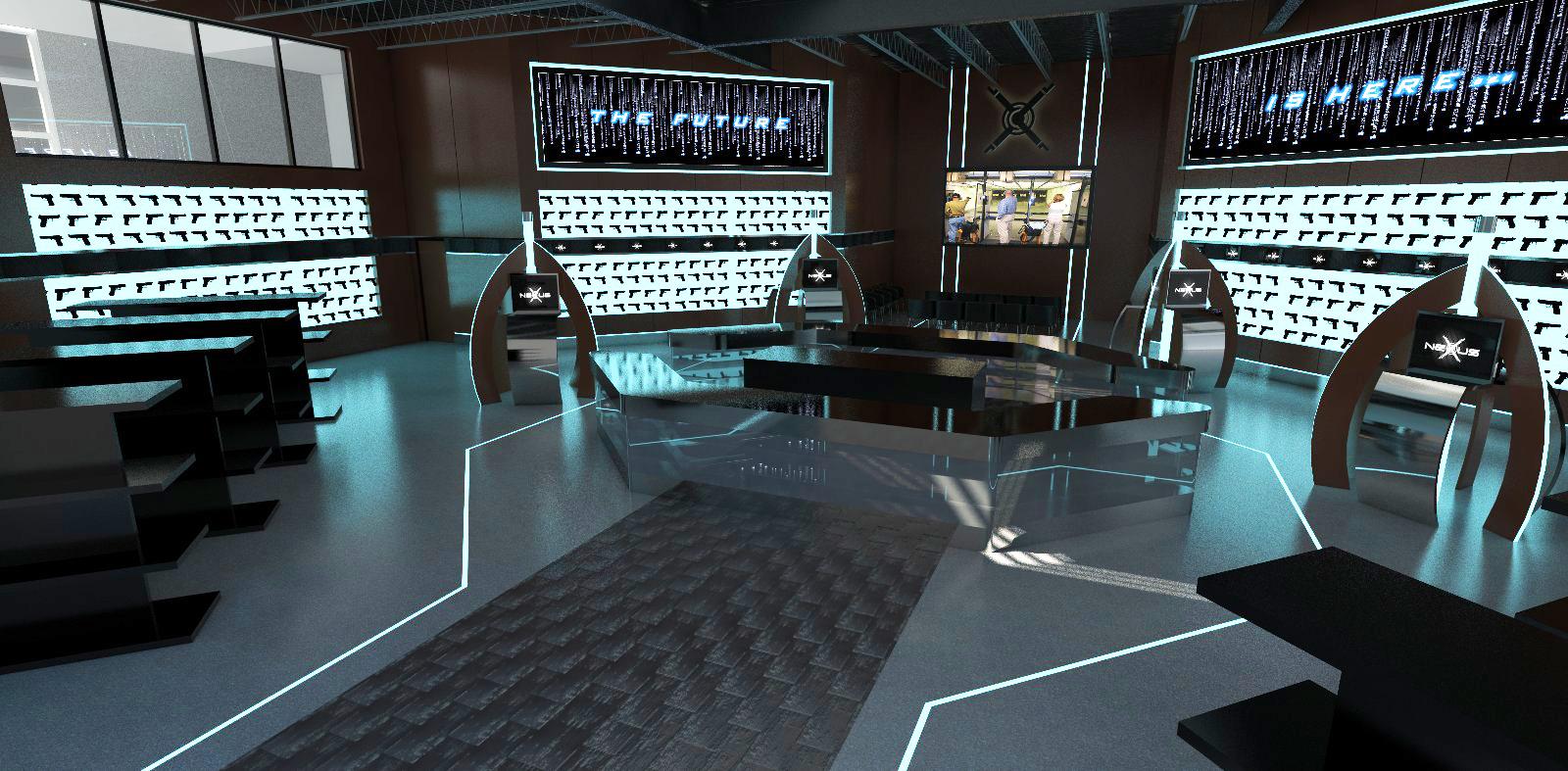 Nexus Shooting Refined Renderings of the Retail Space Interior Design