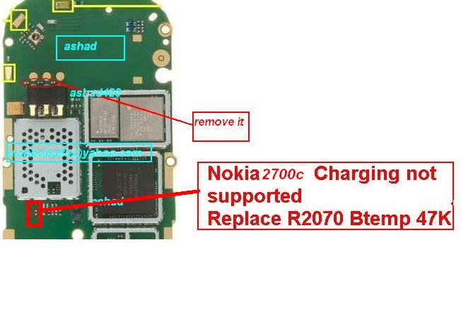 Nokia 2700c charging not suported  solution