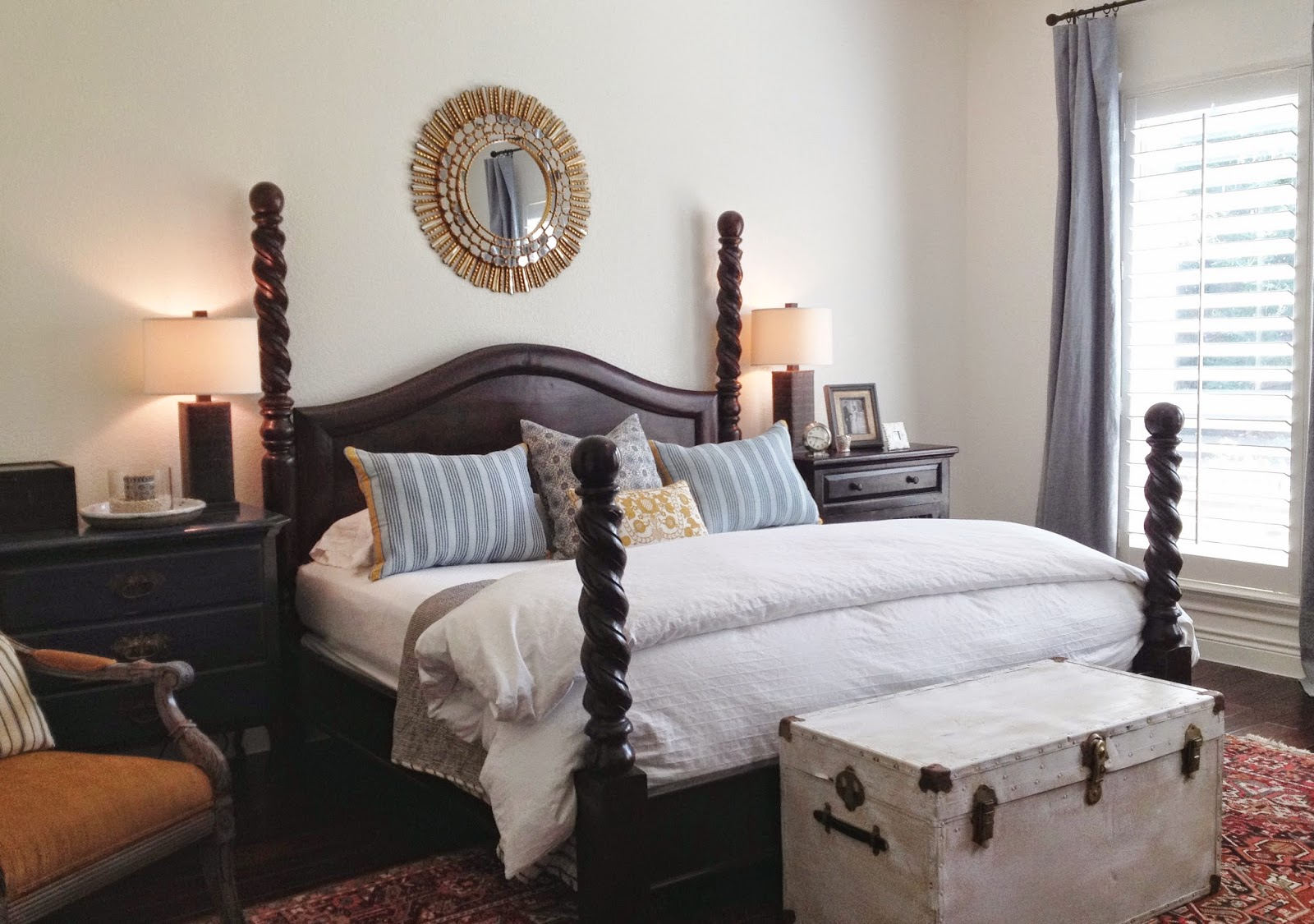 white walls in a bedroom