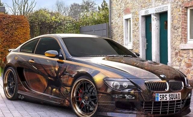 Gambar Modifikasi Mobil BMW Dark Gold