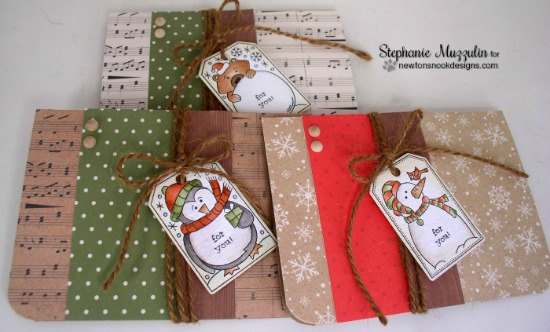 Tag Cards by Stephanie Muzzulin | Jolly Tags Stamp and Die Set by Newton's Nook Designs #newtonsnook