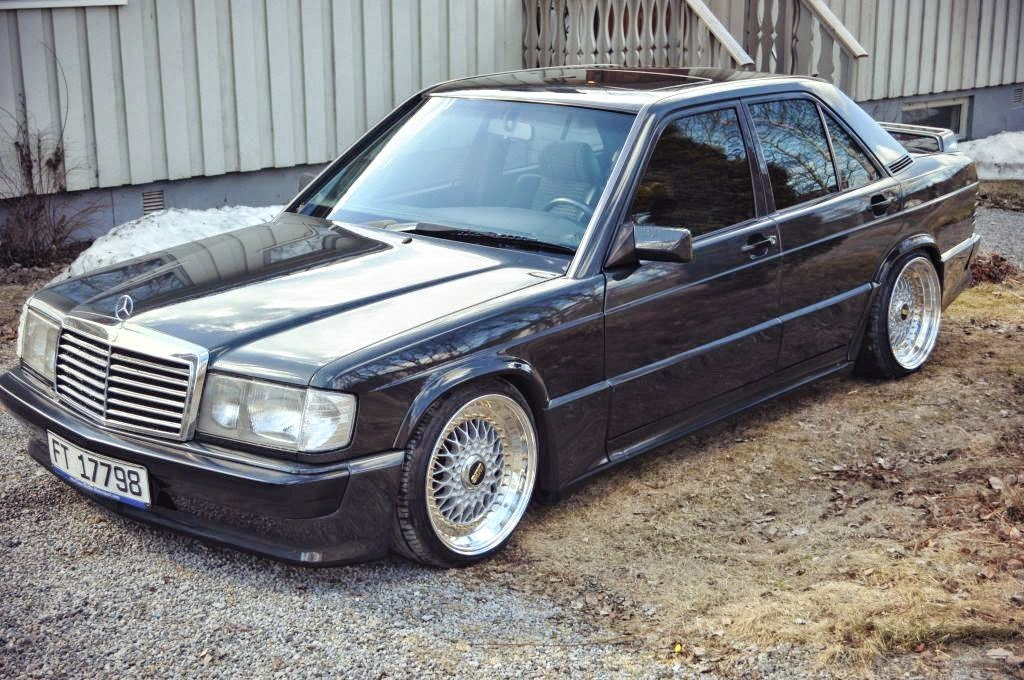 mercedes benz 190e w201 on bbs wheels benztuning
