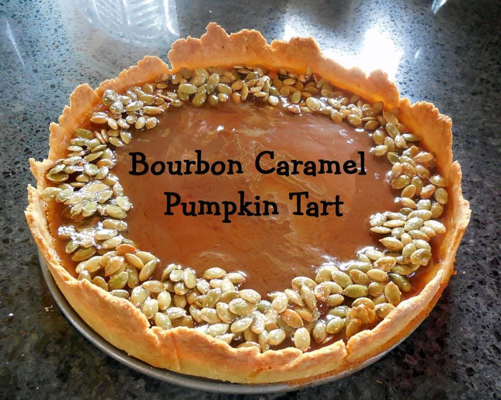 Baking for the Firemen - Bourbon Caramel Pumpkin Tart - Broken Teepee