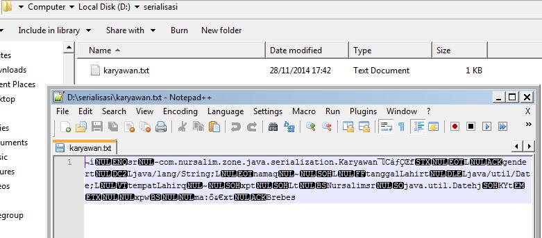 Serialization dan Deserialization di Java