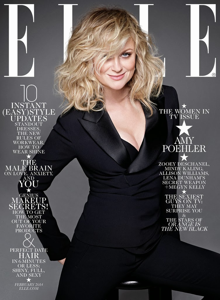 Women in TV Amy Poehler Elle US Magazine Cover January 2014 HQ Scans