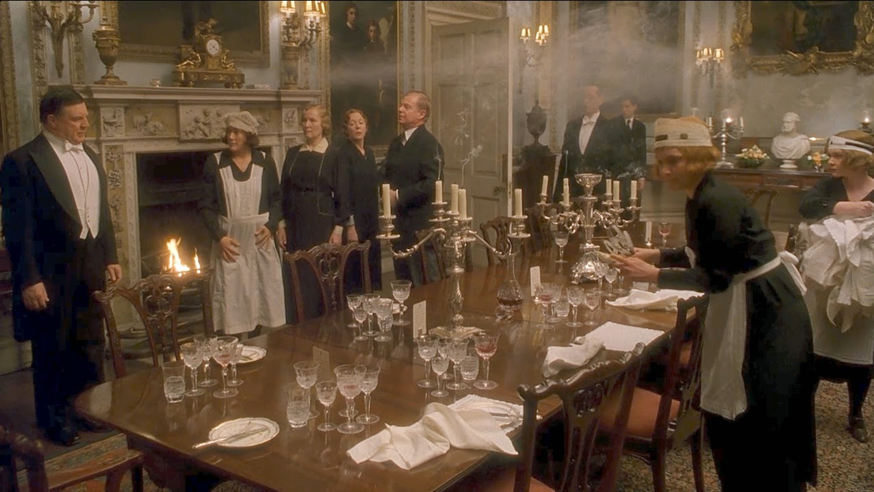 The Servants Clear From Dinner If There Are Guests Those Will Be Expected To Stay Upstairs Wait On Family During Rest Of