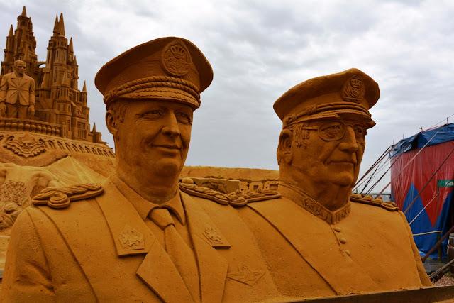 Sandwonderland Blankenberge Koning Albert en Filip
