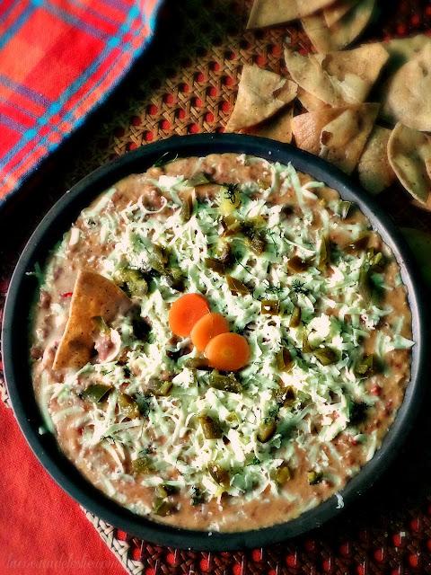 Pinto Bean Dip with Chorizo - lacocinadeleslie.com