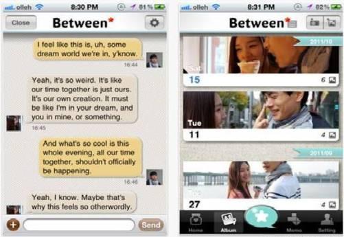 Between, jejaring sosial khusus pacaran