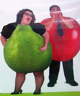 pear women, apple men, no waist, lose belly fat
