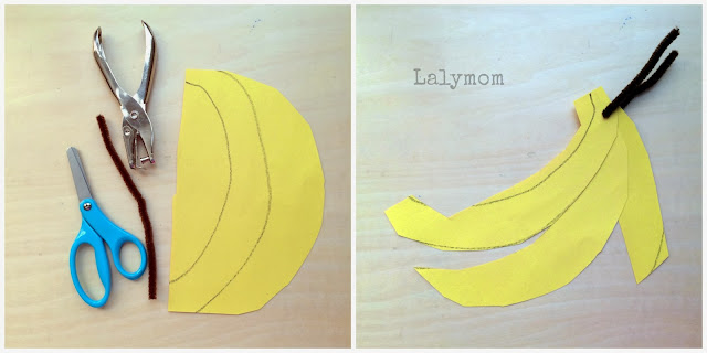 Cutting Practice Bananas for Preschoolers from Lalymom