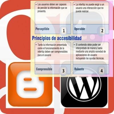 Imagen de blogsdeBloggers con principios para accesibilidad: perceptibilidad, operabilidad, comprensibilidad y robustez