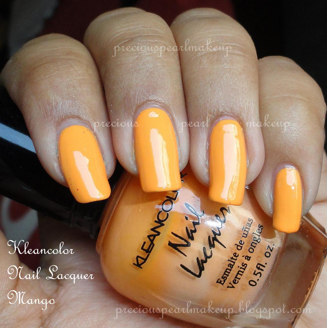 preciouspearlmakeup: Kleancolor Nail Lacquer Mango