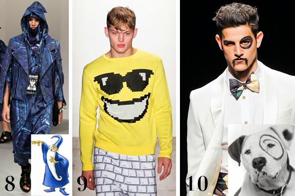 Merlin, emoticon, Jeremy Scott, Vivienne Westwood, Little rascals perro