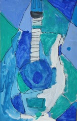 Art Intertwine-Picasso Inspired Guitar Paintings