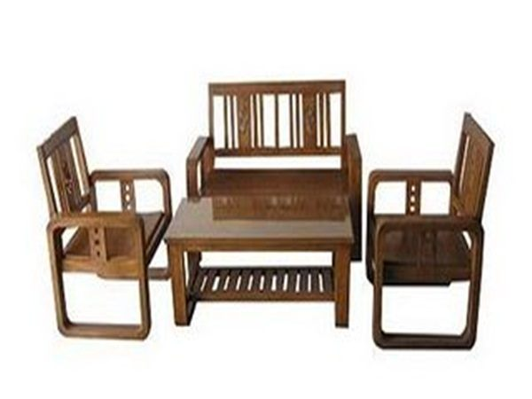 Design Kursi Tamu Sudut Dari Bahan Kayu Jati Bambu Dan Sofa Modern ...