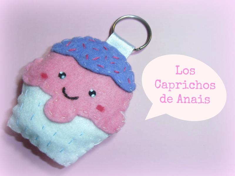llavero de fieltro cupcake Los Caprichos de Anais