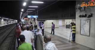حريق بمحطة مترو السادات يثير فزع المواطنين