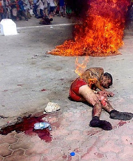 Bakar Manusia, Manusia Terbakar