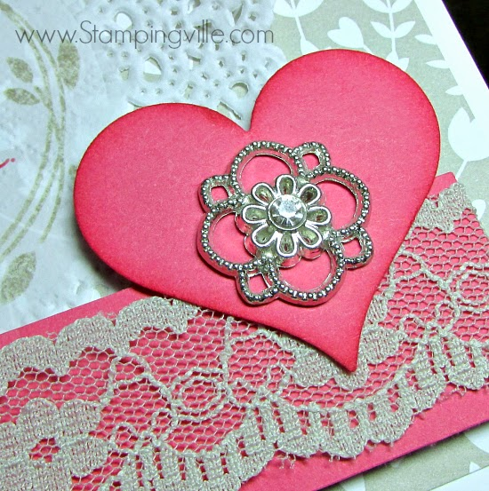 Something Borrowed Embellishment + Sahara Sand Lace Trim. #wedding #cardmaking #papercrafts #StampinUp
